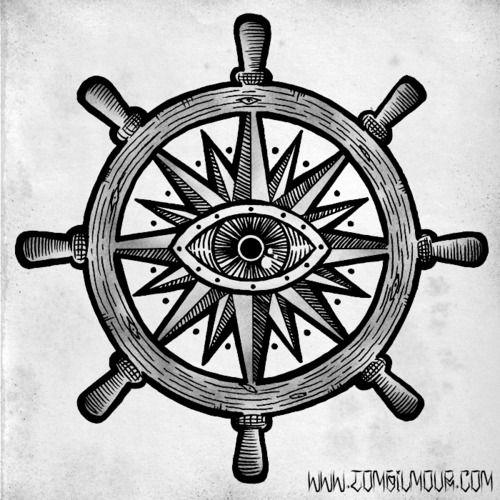 Ship Wheel Tattoo Page Tatuaje De Timón De Barco Pinterest
