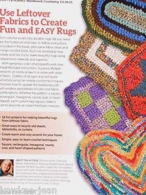 Crochet RAG RUGS Design Originals instruction book by Suzanne McNeill 48pgs