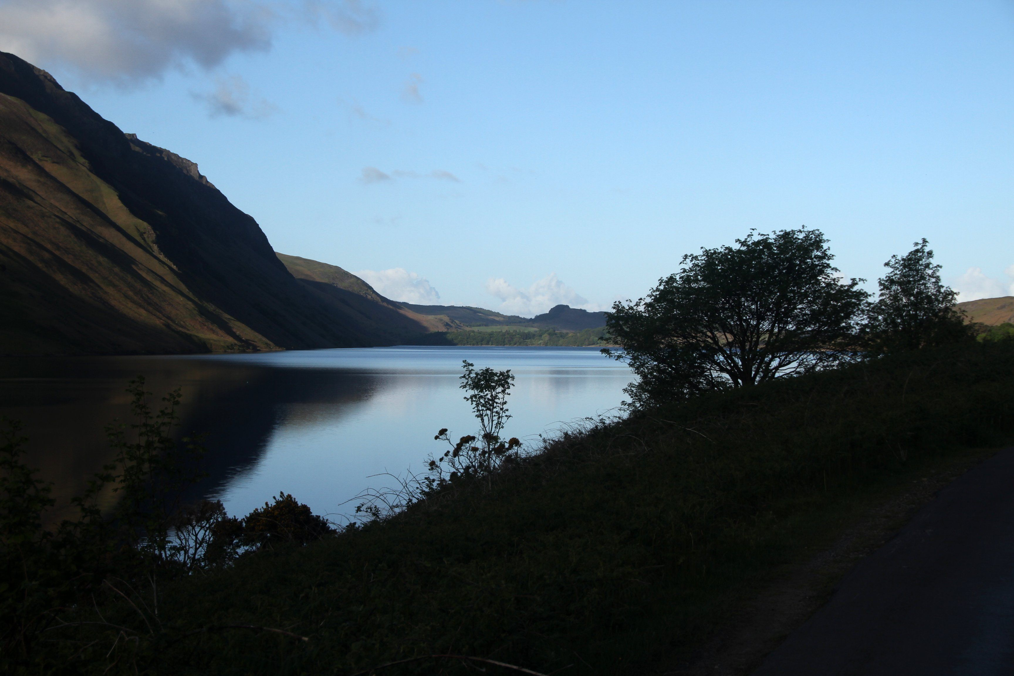 night falls over Wast Water