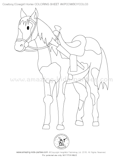 free cowboy horse coloring sheet - Cowboy Cowgirl Coloring Pages