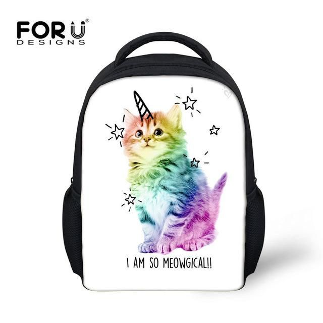 aaa0f03ac6 FORUDESIGNS Unicorn Cute kids Backpack School Bag For Kindergarten Girls  Kawaii Shoulder Bag 12 Inch Mini Book Bags Hot Mochila