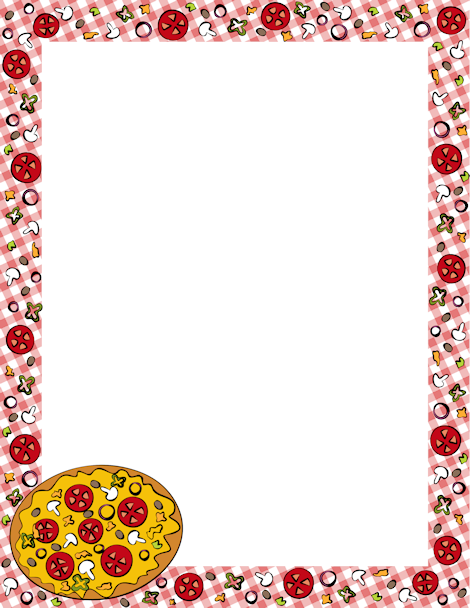 page border featuring pizza graphics on a tablecloth style background free downloads at httppagebordersorgdownloadpizza border