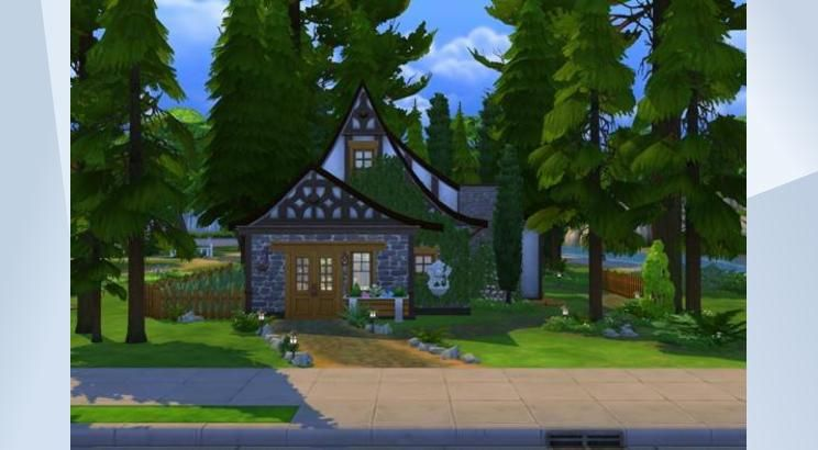 Check Out This Lot In The Sims 4 Gallery For The Spellcaster That Likes To Be In Tune With Nature Spellcas Island Living Outdoor Retreat Fairytale Cottage
