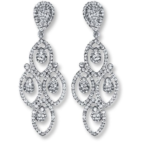 Chandelier earrings white crystals sterling silver 3262 liked chandelier earrings white crystals sterling silver 3262 liked on polyvore featuring jewelry aloadofball Choice Image