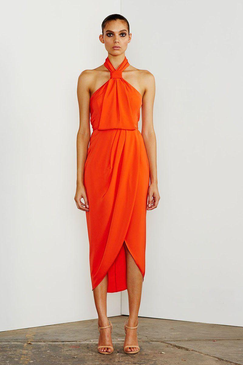 c88be0a69a1e CORE KNOT DRAPED DRESS - CORAL – Shona Joy | Fashion Inspiration ...