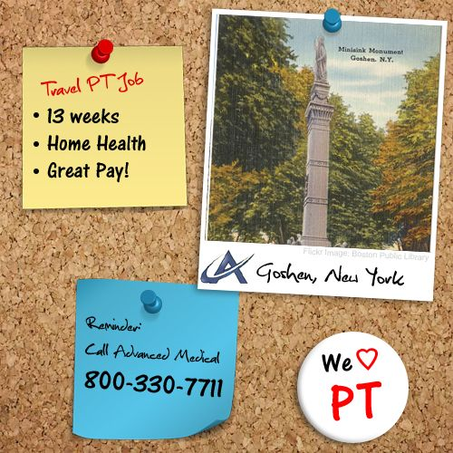 Wonderful opportunity for a traveling physical therapist in Goshen - physical therapist job description