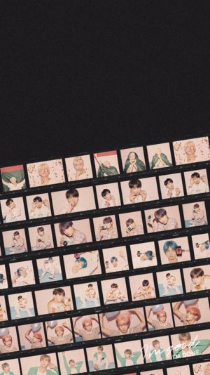 Film Strip: BTS Persona Film Strip Phone Wallpaper Lockscreen For