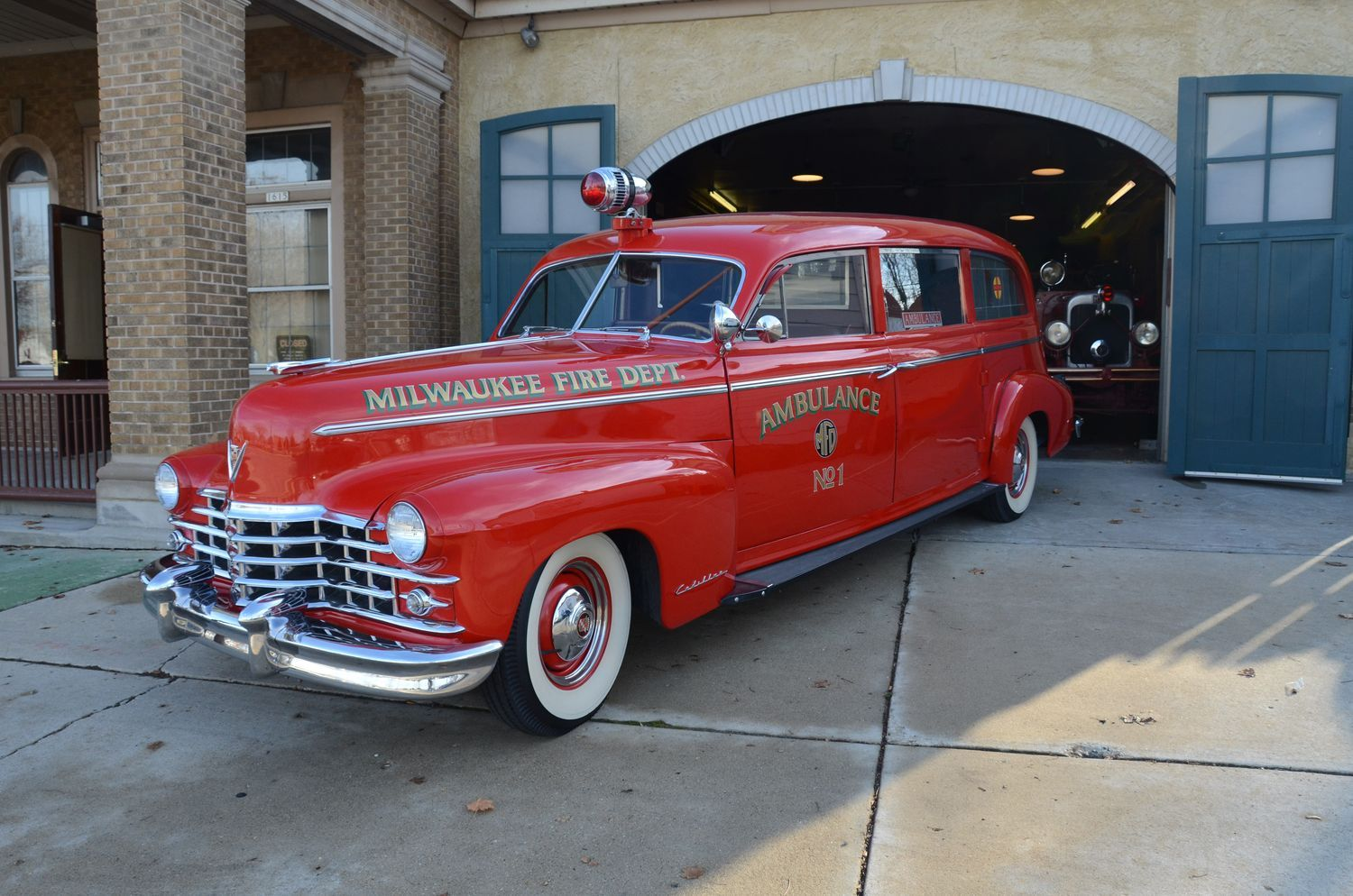 1956 cadillac ambulance red with white roof and hood trim classic gm cars trucks mainly of the 1920 s 30 s 40 s 50 s 60 s 70 s