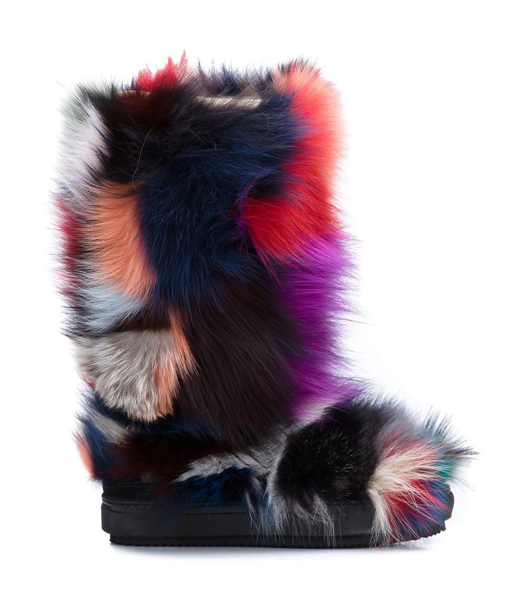Multicolor Fox Patch Moon Boot