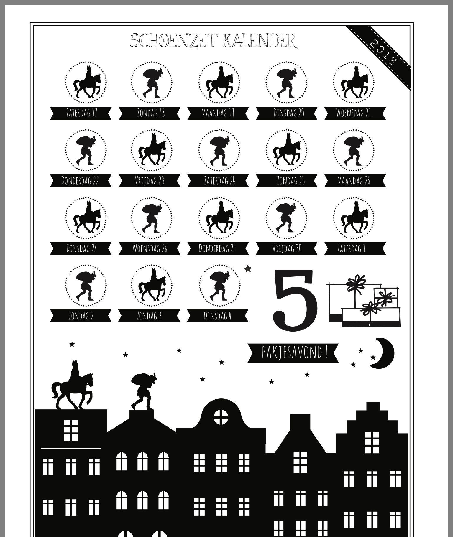 Pin Van Natascha Op Diy Sinterklaas Volwassen Diy Sinterklaas Kalender Vrijdag