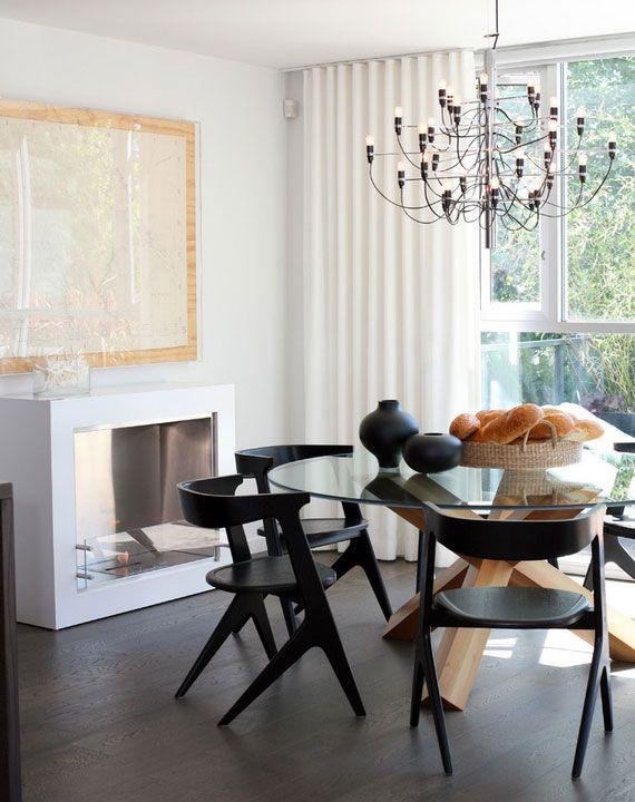 Flos 2097 Chandelier In Sleek Dining Room Designed By Canada Based Kodu Design