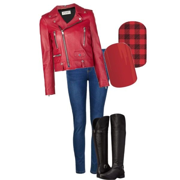 A fashion look from September 2015 featuring Yves Saint Laurent jackets, Ally Fashion jeans and Naturalizer boots. Browse and shop related looks.