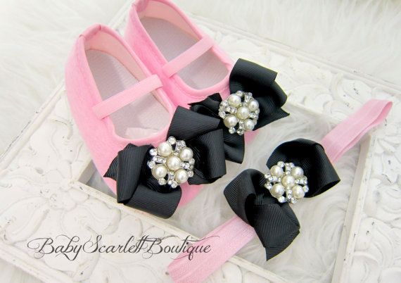 Pink Baby Girl ShoesSoft Sole Shoes with by babyScarlettBoutique, $21.95