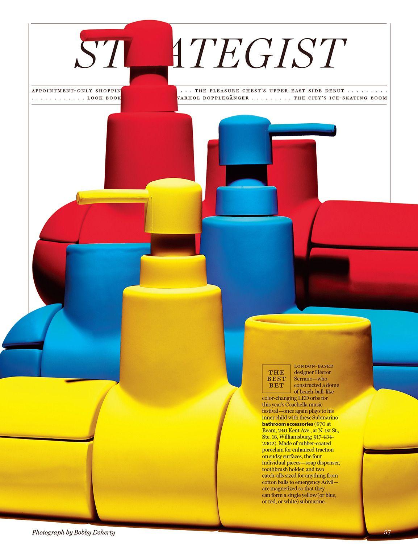 Bathroom Accessories for New York Magazine | Pleasure ...