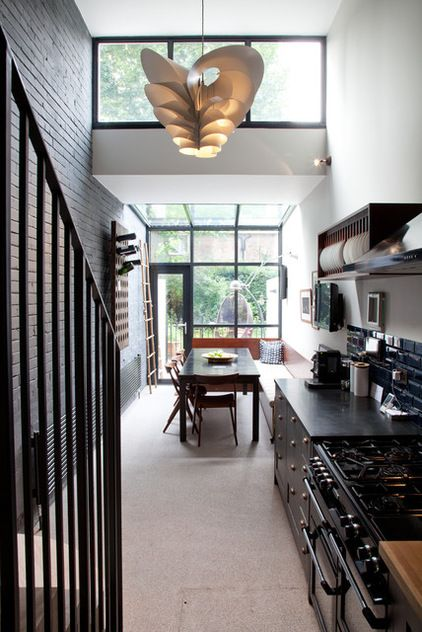 Kitchen Design Long Narrow Room: Tuck In A Banquette With A Narrow Dining Area, Built-in