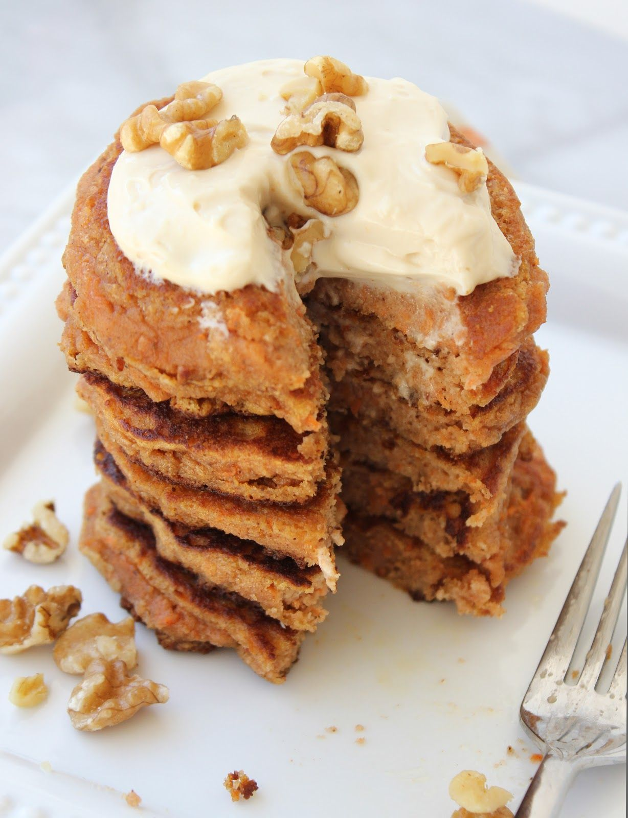 Whatever Dee-Dee wants, she's gonna get it: Almond Flour Carrot Cake Pancakes with Maple Cream Cheese Drizzle