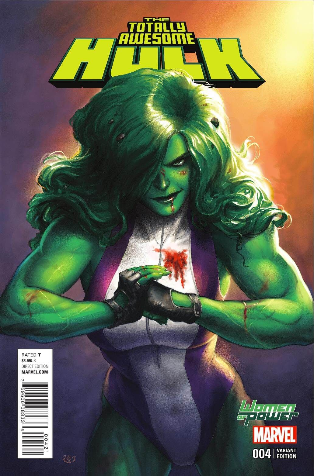 Totally Awesome Hulk #4, Story: Greg Pak Art: Frank Cho Covers: Frank Cho & Meghan Hetrick Publisher: Marvel Publication Date: March 23rd, 2016 Price: $3.99