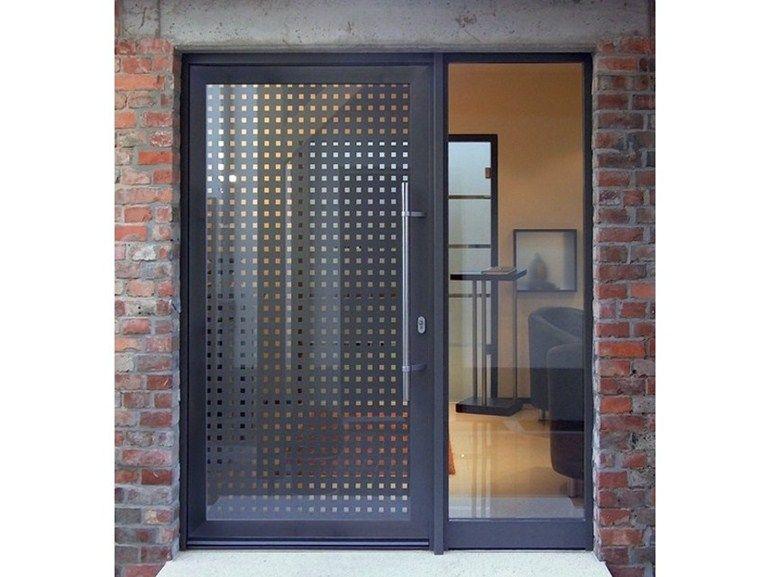 Porta d 39 ingresso in vetro per esterno geo collezione for Porta ingresso vetro