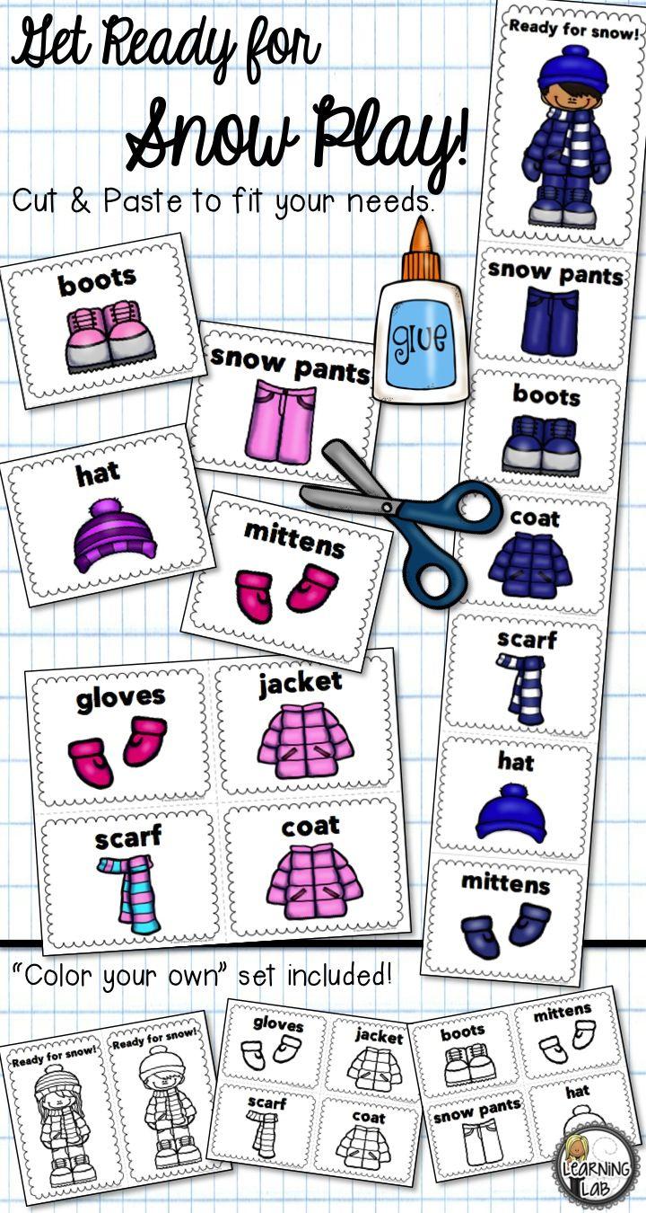 Snow Gear Order Chart Student Learning Winter Preschool Snow Gear [ 1350 x 720 Pixel ]