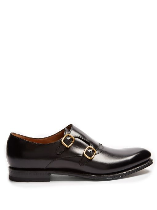 94bbb49983e3 GUCCI Signora double monk-strap leather shoes.  gucci  shoes  shoes ...