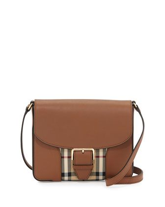 bf71ac3af5 Dickens Small Horseferry Check Crossbody Bag, Tan by Burberry at Neiman  Marcus.