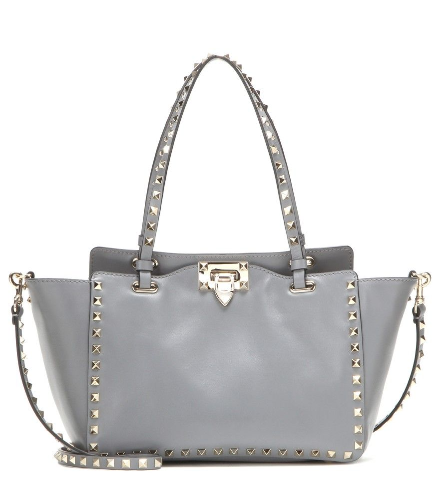 Rockstud Small Leather Tote