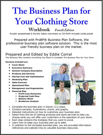 Clothing Store Business Plan Small BusinessSelf Employment - Fashion business plan template