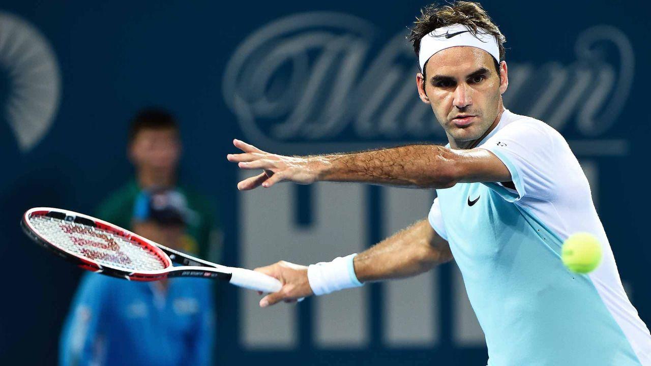 Defending champion Federer into Brisbane semifinals...: Defending champion Federer into Brisbane semifinals #RogerFederer… #RogerFederer