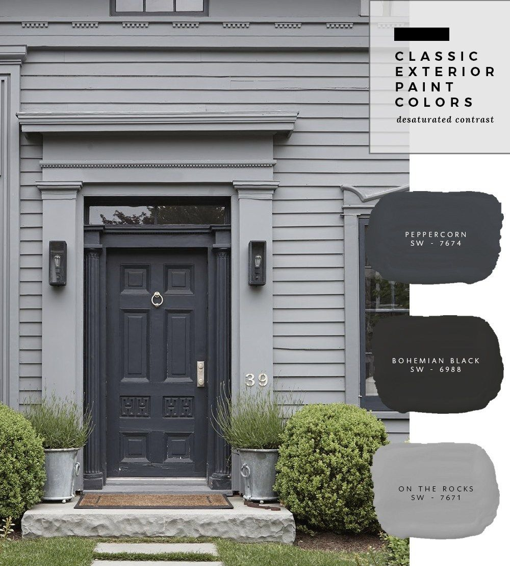 Exterior Paint Color Combinations #greyexteriorhousecolors