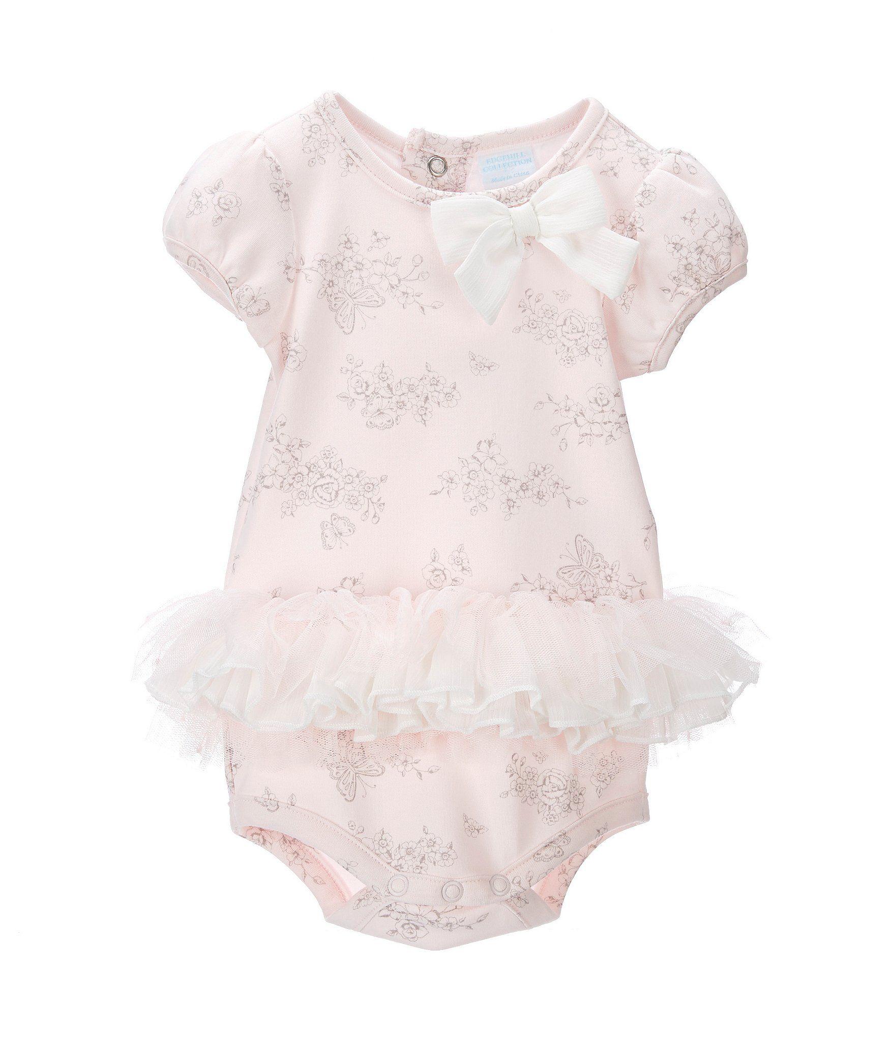 088e86c58776 Edgehill Collection Baby Girls Newborn6 Months Printed Tutu Bodysuit ...