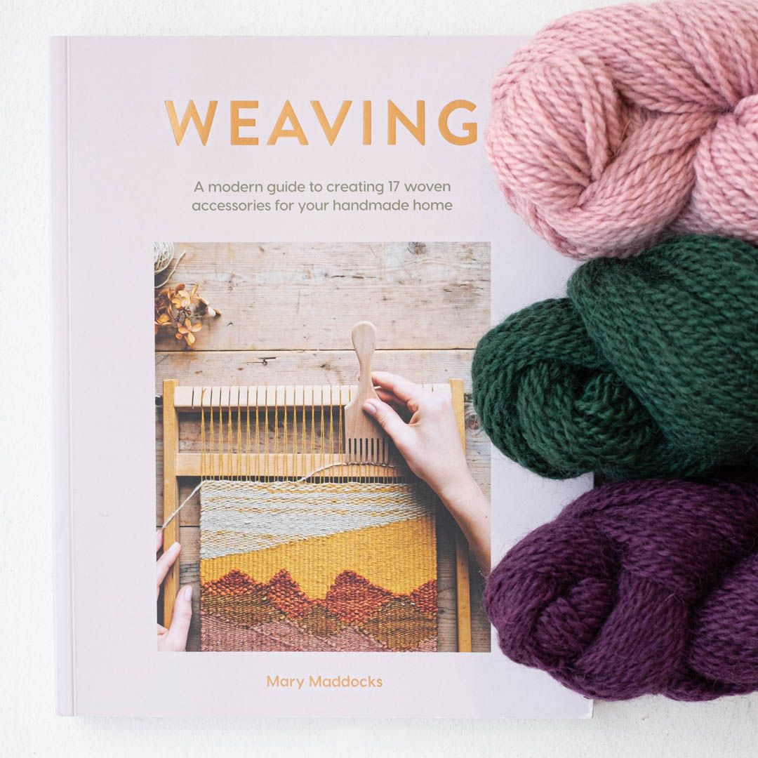This new book by textile artist Mary Maddocks features 17 nature inspired weaving projects. It starts from the basics and walks you through, step-by-step. This glorious collection will inspire you to slow down and invite the outside in, with projects from wall hangings to pendants. #weaving #fiberart #weaversofinstagram #loom #fiberartist #fiberarts #modernweaving #weavingloom #loomweaving #fancytigercrafts