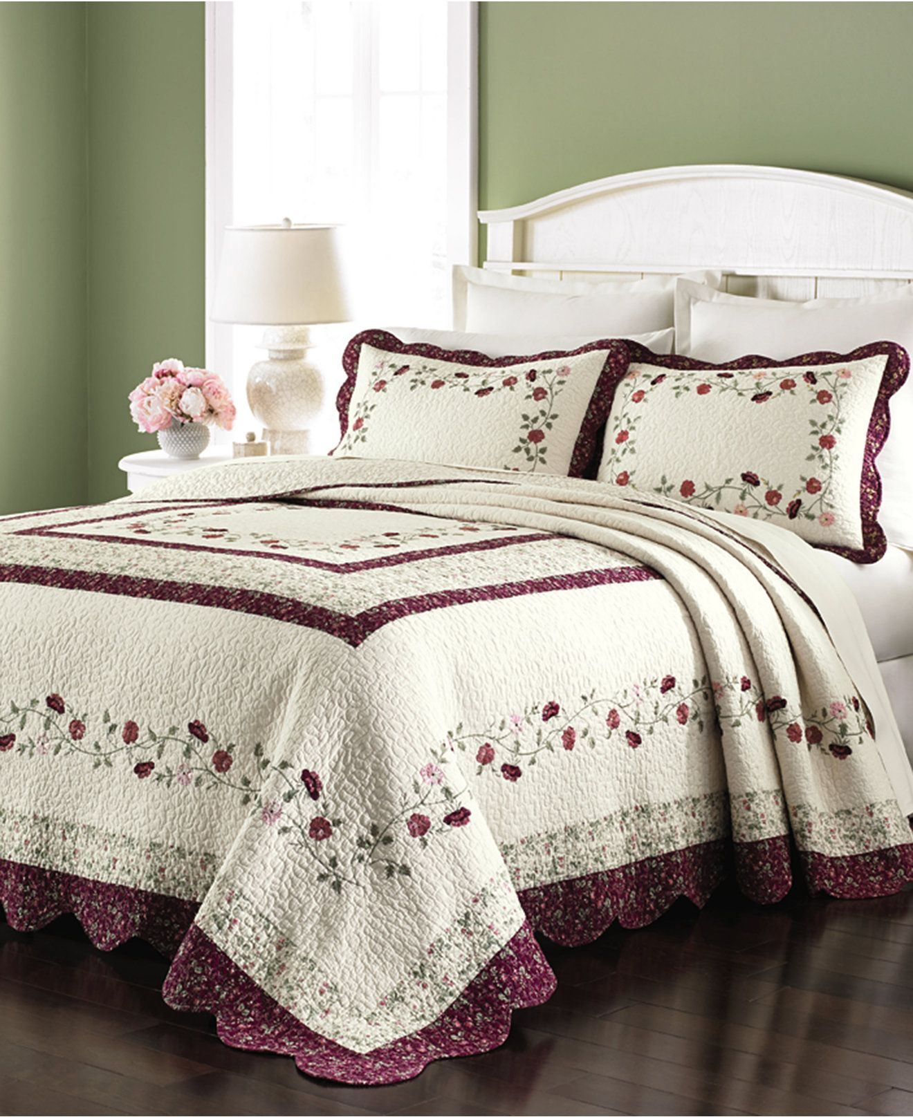 Martha Stewart Collection Prairie House Bedspreads - Quilts ... : macys bedding quilts - Adamdwight.com
