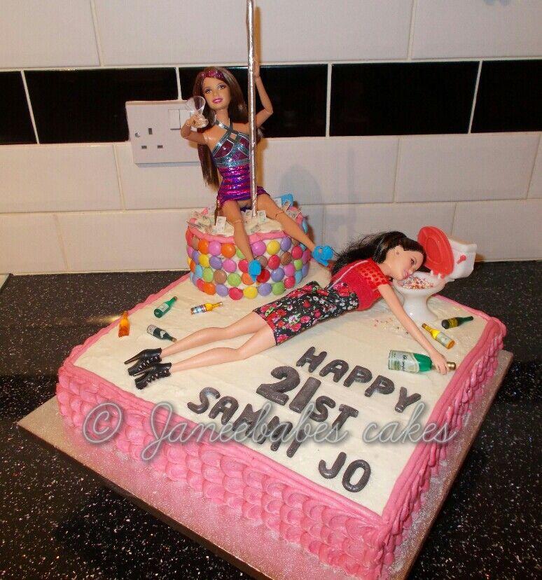 Barbie cake pole dancing barbie cake 21st birthday cake