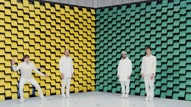 Ok Go The Writing S On The Wall Lyrics Hundreds Of Perfectly Choreographed Printers Are The Real Stars Of This Fun Music Video Music Videos Ok Go Good Music