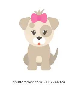 Cartoon Dog Girl เวกเตอร สต อก ปลอดค าล ขส ทธ 687244924 ภาพประกอบ