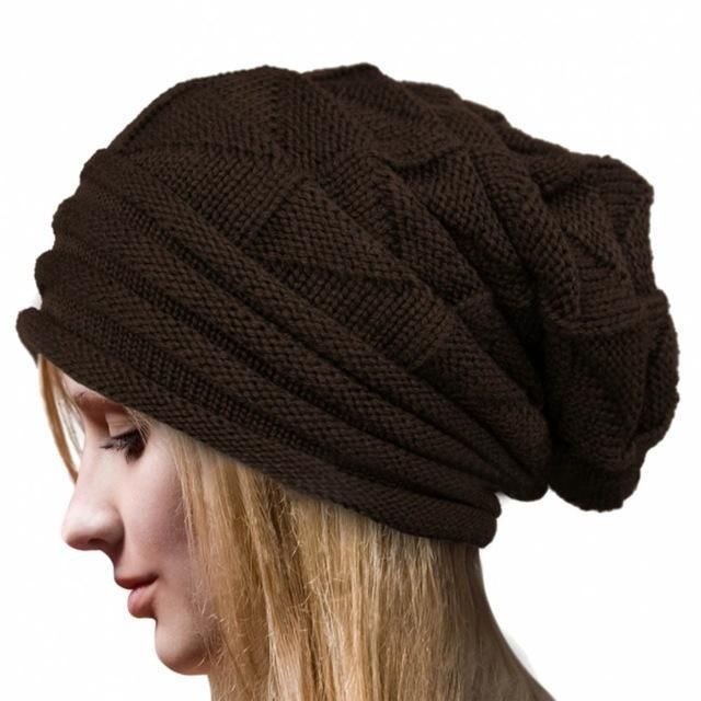 FEITONG Knitted Wool Beanie - Women's