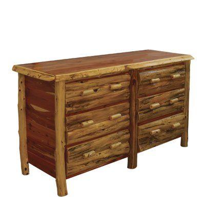 Photo of Loon Peak® Detroit 6 Drawer Double Dresser