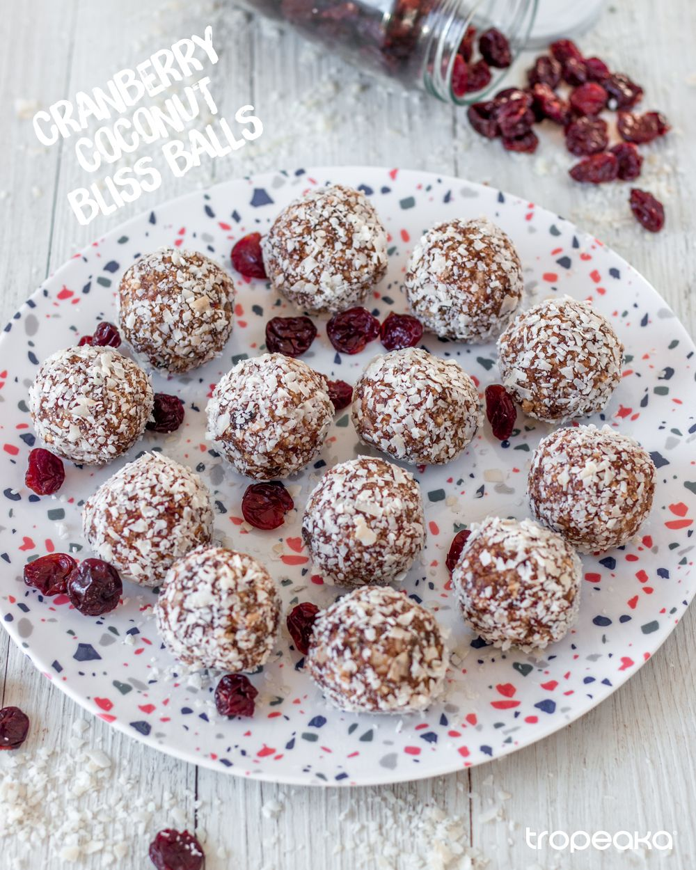 Cranberry coconut bliss balls   Recipe in 2020   Bliss ...