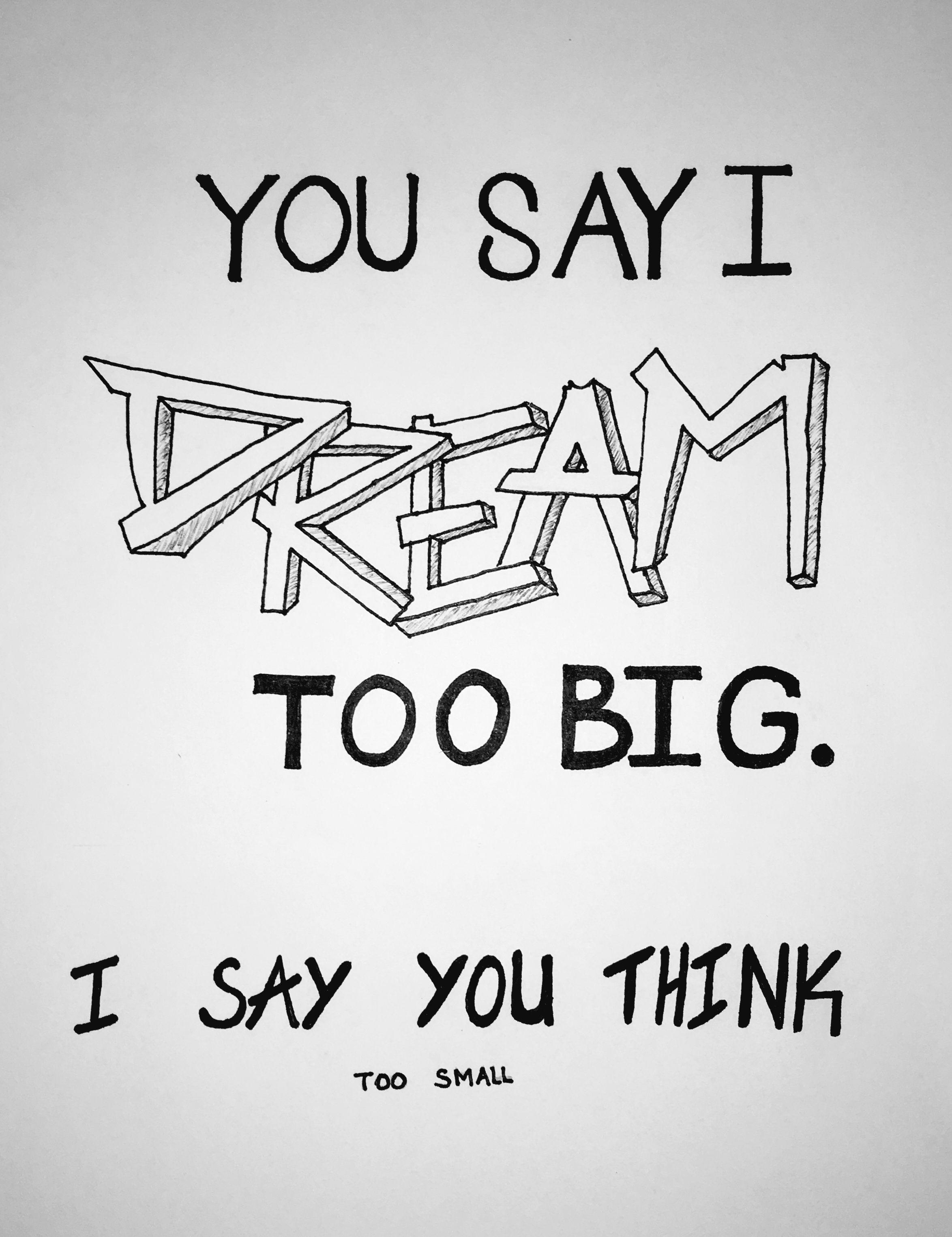 Replica sketch diy easydrawings pencil art quote dream