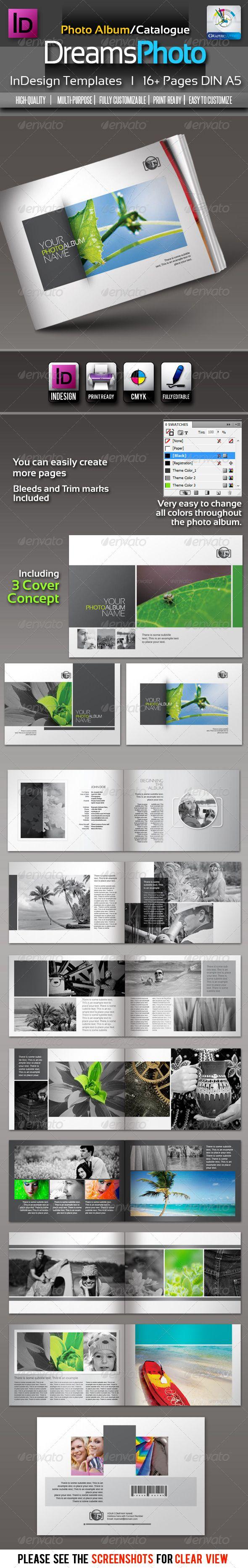 GraphicRiver Dreams Clean Photo Album InDesign Templates 2622174 ...