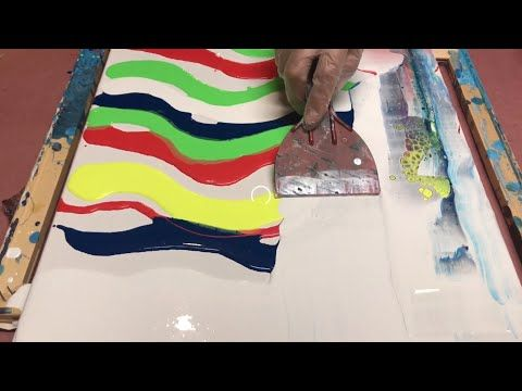 ACRYLIC FLUID PAINTING DIRTY POUR FLIP CUP!! HOW T