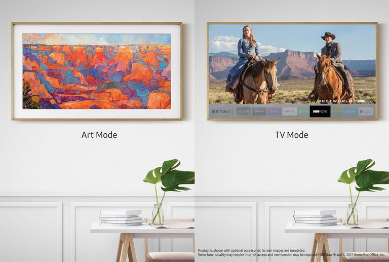 The Most Beautiful Tv You Ve Never Seen In 2020 Framed Tv Tv Wall Wall Mounted Tv