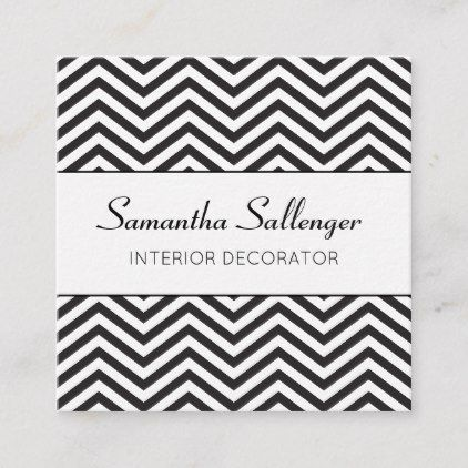 Black zig zag design square business card office ts tideas also in rh pinterest