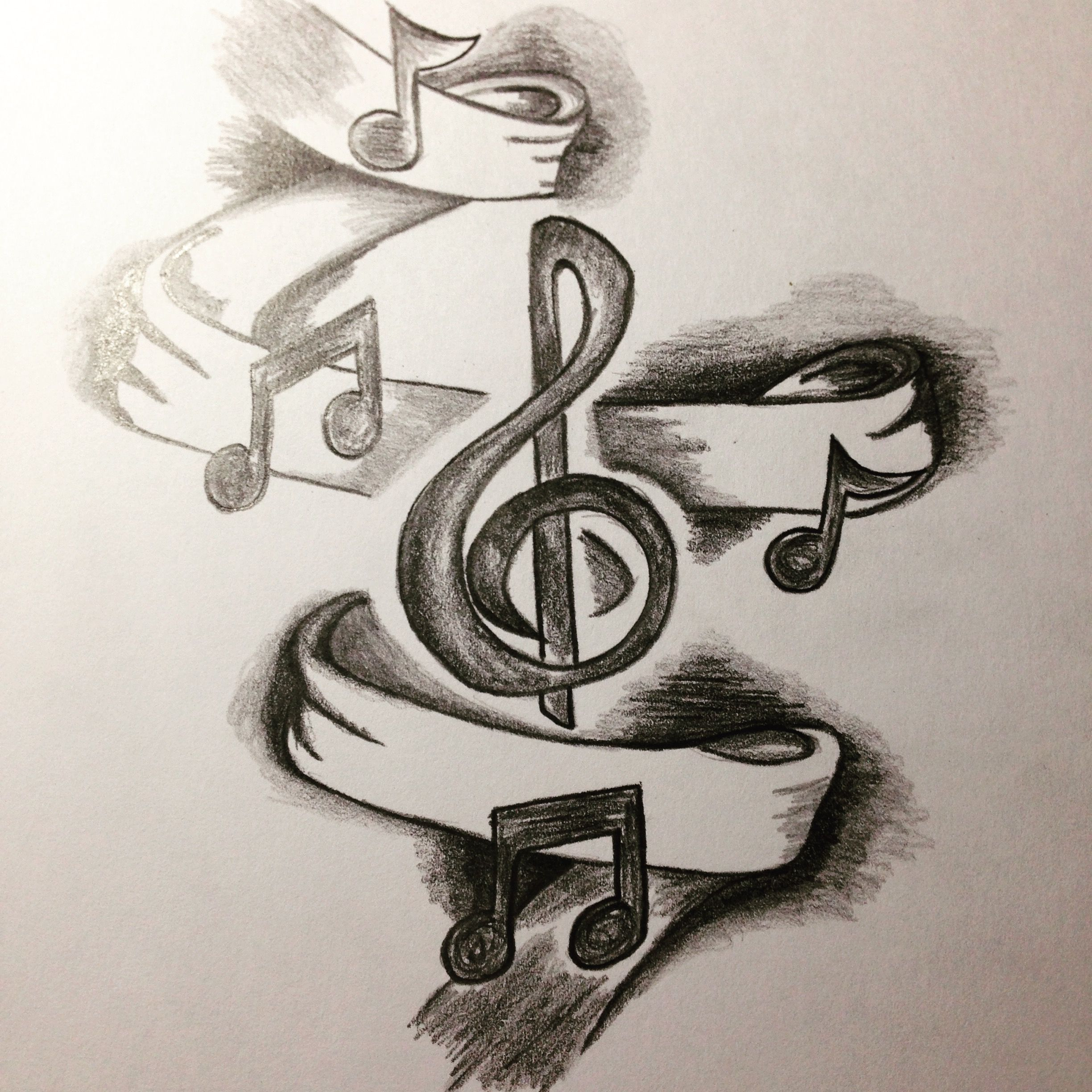 Pin By Zan Mari On My Own Drawings Music Sketch Music Notes