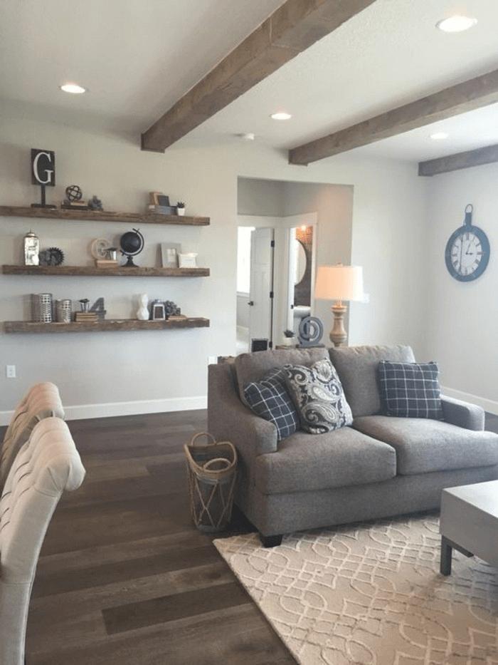 Wohnzimmer Einrichten Grau Braun