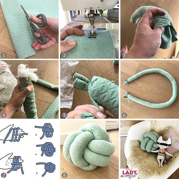 knoop, bal, knopenbal, knoopbal, knoopkussen, knopenkussen, knot, Deco ideeën