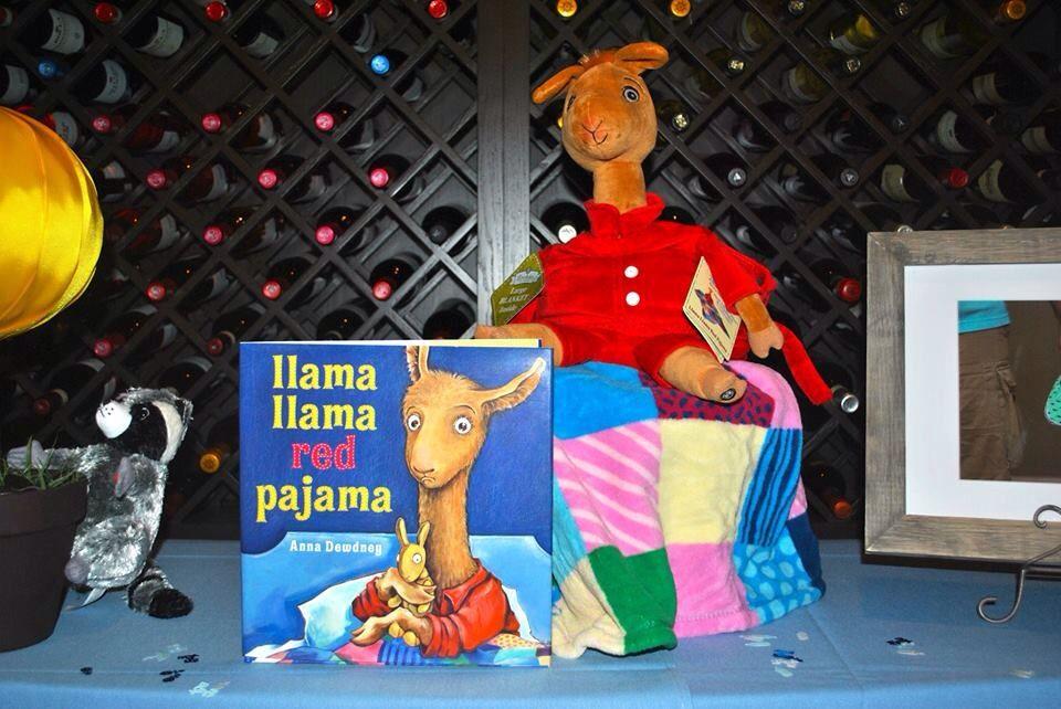 Llama Llama Red Pajama Centerpiece, Storybook Theme Baby Shower