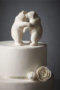 Huggie Bear!Porcelain Bear Hug Cake Topper