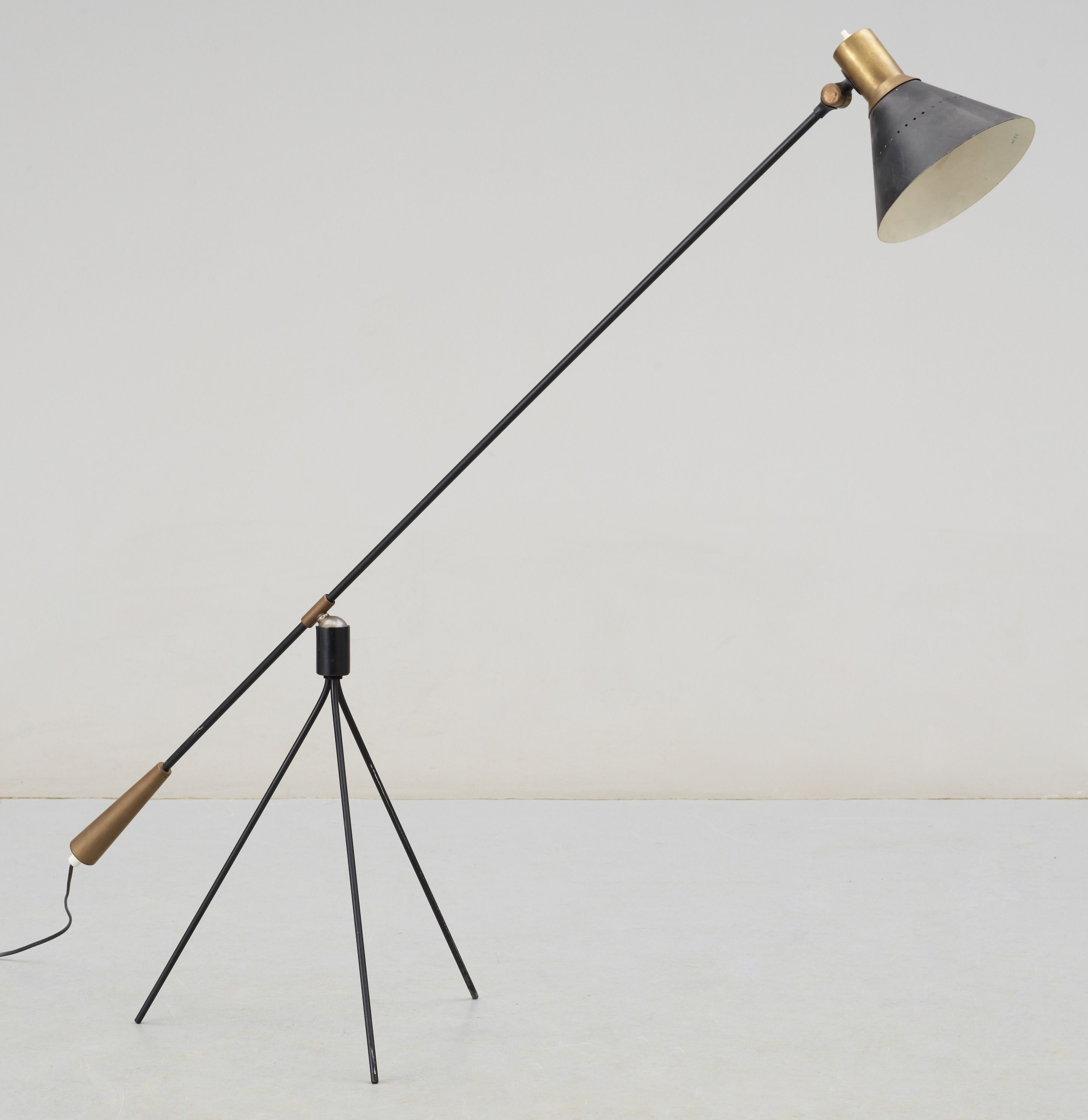 Gilbert watrous brass and enameled steel floor lamp for bergboms gilbert watrous brass and enameled steel floor lamp for bergboms 1950s mozeypictures Image collections