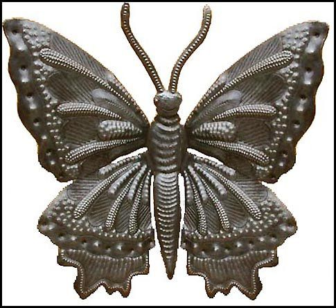 Butterfly Metal Wall Decor Upcycled Haitian Steel by HaitianMetal ...